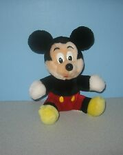 "Older 8"" Disney Classic Mickey Mouse Theme Park Edition Plush w/ Cloth Tag"