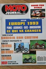 MOTO JOURNAL 1040 SUZUKI 800 Intruder GUZZI 750 Nevada YAMAHA VIRAGO INDIAN 1992