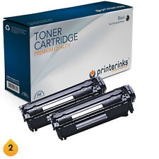 2 Non OEM HP 12A Q2612A Black Toner Cartridges LaserJet 1010 1015 3015 3030 3055