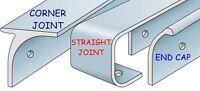 Kitchen Worktop Edging Strips Trims End,Corner,Straight 40mm & 30mm Worktop Bolt