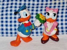 Disney Applause Donald & Daisy Duck Figures 2 inch Cake Topper Toys
