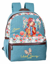 Official Winx Club Fairy Girls Large Backpack Rucksack School Travel Denim Bag