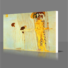 GUSTAV KLIMT The Beethoven Frieze Detail Modern Canvas Wall Art Picture Print