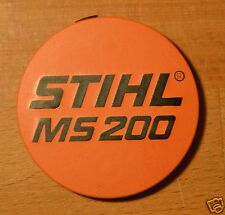 Genuine Stihl MS200 Model Plate Name Plate 1129 967 1504 Tracked Post