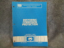 1991 Chevrolet Restoring Corrosion Protection Original Factory Manual Book W476