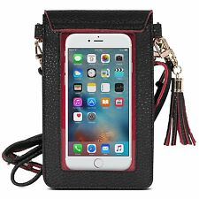 Apple iPhone 7 Plus/7 Case Bag Soft Leather Pouch Shoulder Strap ShockProof New