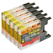 5x Tinte Patronen Brother für den Drucker MFC-J5910DW LC 1280 XXL yellow