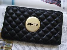 Mimco black revolution leather large wallet