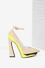 Jeffrey campbell power cut blush yellow heels size 7.5 new in box