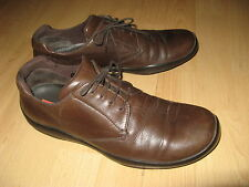 WORN ONCE MENS AUTHENTIC BROWN LEATHER PRADA LACE UP CASUAL SHOES 8 UK 42 EU