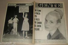 GENTE 1962/36=VALERIA CIANGOTTINI=TORRAZZA=GIORGIO BASSANI=HEIDI HANSEN VENEZIA=