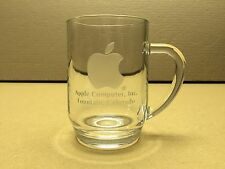 COLLECTOR Only a few ever made Apple Computer HUGE Etched Glass Mug - RARE
