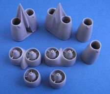 Pavla U72141 1/72 Resin Boeing B-47C Engine Nacelle front parts and jet pipes