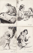 * MOTHER & SON - 5 Postcards - M.Barberis