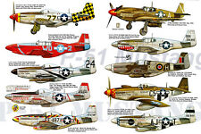 P-51 North American Mustang Fighter USAF Air Force Airplane Poster 20x30