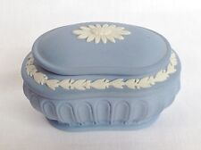 Wedgwood Trinket Box and Lid - Blue Jasperware - 1st Quality