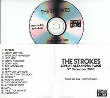 THE STROKES Live At Alexandra Palace 5th Dec 2003 UK 17-trk promo CD unreleased