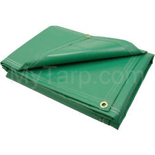 10' x 12' 18 oz Vinyl Coated Polyester Tarp - Made in USA - New - Free Shipping