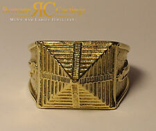 Men's Highly Polished Pyramid  Ring cast in Jewellers Bronze Ring Any Size 18g