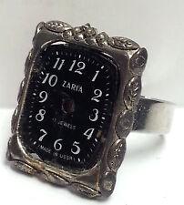 Steampunk Vintage Black Clock Ring - Vintage Ring,Adjustable Ring,Handmade