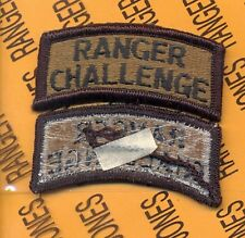 US ARMY ROTC RANGER CHALLENGE OD Green Black TAB patch m/e