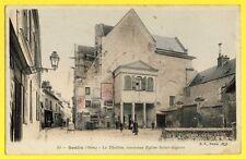 cpa France 60 - SENLIS (Oise) Le THEATRE Ancienne Eglise Saint AIGNAN Triporteur