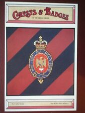 POSTCARD THE BLUES & ROYALS CRESTS & BADGES OF THE ARMED FORCES
