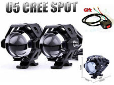 2pcs Waterproof Motorcycle U5 CREE LED Driving Fog Spotlight Headligh For Honda
