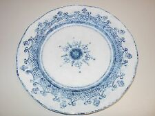 "NEW Arte Italica Burano 12"" Dinner Plate White and Blue Ceramic Italy"