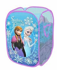 Kids Pop Up Laundry Hamper Basket Frozen