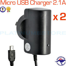 2 x Micro USB Wall Home Travel AC Power Charger AU Plug Samsung HTC Phone Tablet