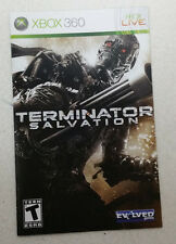 Xbox 360 Terminator Salvation Instruction Booklet Insert Only Microsoft