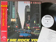 Promo! KISS-PETER CRISS Let Me Rock You-CITY SLEEVE- JAPAN LP w/OBI 25S-121