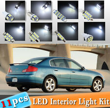 11-pc White LED Interior Light Bulbs Package Kit Fit 03-2006 Infiniti G35 Sedan