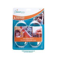 4x FORNELLO Dreambaby-controlli a sfioramento Protezione Fornello Forno Protezione Protezione Fornello di backup