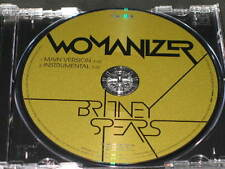 BRITNEY SPEARS - Womanizer - 2 Track DJ PROMO CD! w/ Instrumental! RARE! OOP!