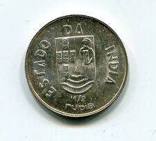 Portuguese India 1936 1/2 Rupee Silver coin - UNC