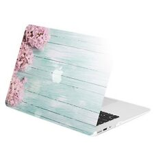 "Pink Hyacinth Turquoise Wooden Matte Hard Case for Macbook Air 13"" A1369 & A1466"