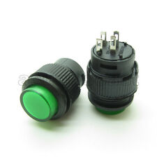 5 x Green 16mm Latching Locking Push Button Switch + LED light Indicator 4Pin 3A