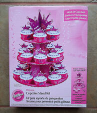 NEW Wilton Princess Pink Cupcake Stand Kit Holds 24 Cupcakes #1510-1008 NIB
