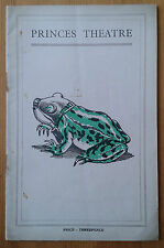 Ian Hay's The Frog programme Princes Theatre 1936 John Mortimer Albert Ward
