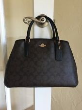Coach F58310 Signature Margot Carryall Brown Black Satchel Handbag