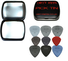 9 Dunlop Max Grip Guitar Picks Variedad - 6 standard & 3 Jazz en un práctico Pick Tin