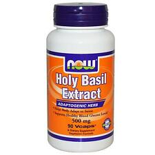 NOW FOODS - HOLY BASIL EXTRACT - 90 x 500mg VEG CAPS