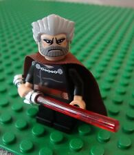 Lego Star Clone Wars COUNT DOOKU Duku Dookoo Chrome Sith Lightsaber Minifigure