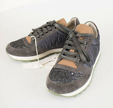 New. BRUNELLO CUCINELLI Gray W/ Leather Trimmings Sneakers Shoes Size 6/36 $1060