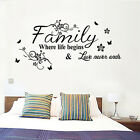 Family Quote words Life Love Wall Sticker Art Vinyl Home room Decal Decor Mural