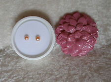 Pink Freshwater Pearls Pierced Earrings  in Ceramic Flower Keepsake Holder Avon