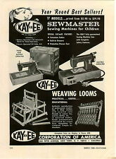 1968 PAPER AD Kay an EE Toy Play Sewing Machines Sewmaster Electric Weaving Loom