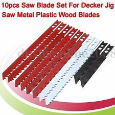 10pcs Lame de Scie Sauteuse Jig Pr Black & Decker Coupe Metal Plastique Bois